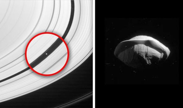 UFO sighting nasa aliens photos saturn moon cassini pictures space station 1100738