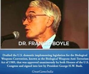 Francis Boyle Coronavirus Biological Warfare Weapon